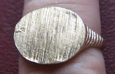 Antique Artifact   19th Century Bronze Finger Ring SZ: 8 3/4 US 18.75mm 14409 DR