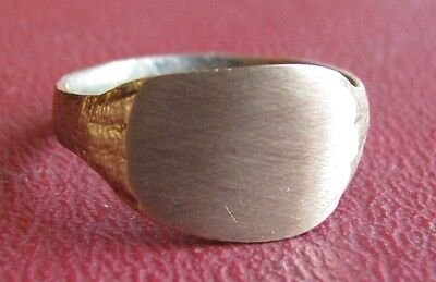 Ancient Artifact > 19th Century Bronze Finger Ring SZ: 6 3/4 US 17mm 14447 DR