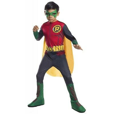 Robin Costume Kids Superhero Halloween Fancy Dress