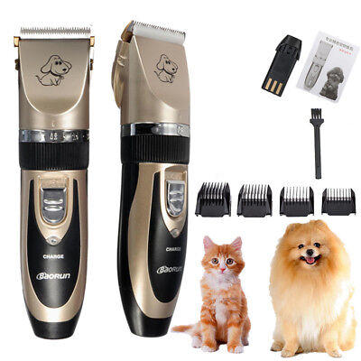 Electric Pet Clipper Cat Dog Hair Trimmer Grooming Cordless Shaver Kit Set  Tool