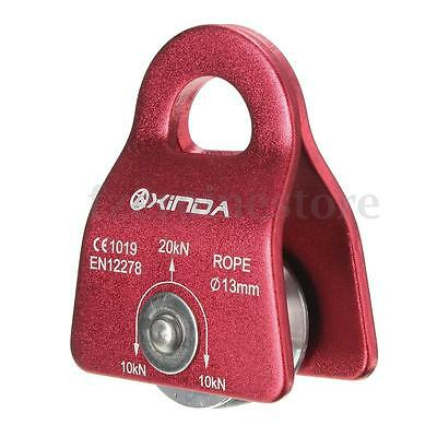 20KN Metal Single Rope Pulley Fixed Side Cord Cable Holder Climbing Mountaineer