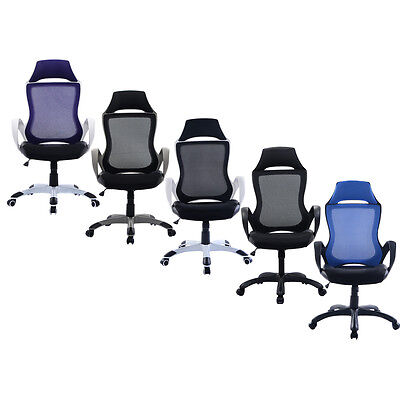 High Mesh Back BTM Sports Racing Office Chair Swivel Home Office Meeting Chairs