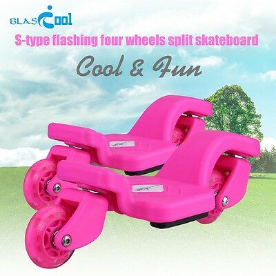 V-shaped Pedal Skateboard Scooter Kids 4 Flashing Wheel Girls Boys Scooter Gift
