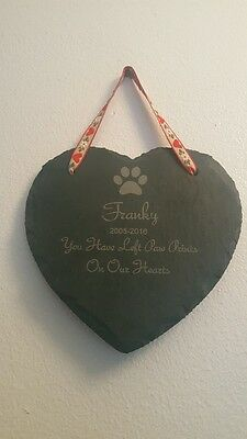 Personalised Slate Pet Memorial Grave (Horse Lizard Snake Rat Dog Goldfish stone
