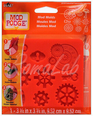 STAMPO IN SILICONE Mod Podge Molds Industrial tema industriale steampunk PLAID