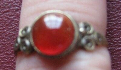 Antique Artifact > 19th Century Bronze Finger Ring  SZ 8 3/4 US 18.5mm 14407 DR
