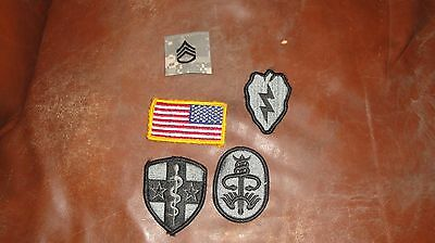 U.S. ARMY Lot of 5 patches Flag Medical SSG