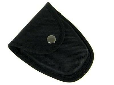 BLACK MOLDED Nylon HANDCUFF Case with SNAP Closure NEW!