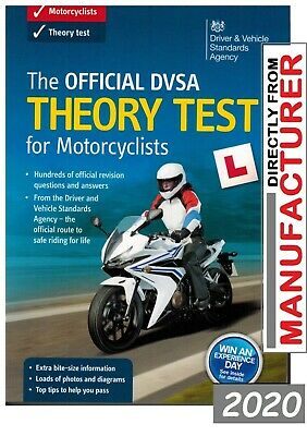 The Official DSA Theory Test for Motorcycle 2016 Book Motorbike DVLA DV @MTRbOK