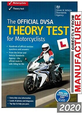 The Official DSA Theory Test for Motorcycle 2017 Book Motorbike DVLA DV @MTRbOK