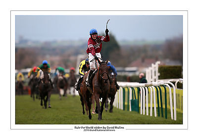 Grand National 2016 Rule The World David Mullins Horse Racing A4 Photo Aintree