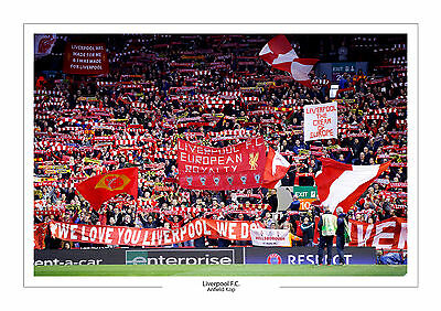 The Kop Anfield Liverpool Superb Fans Photo A4 Print Photo