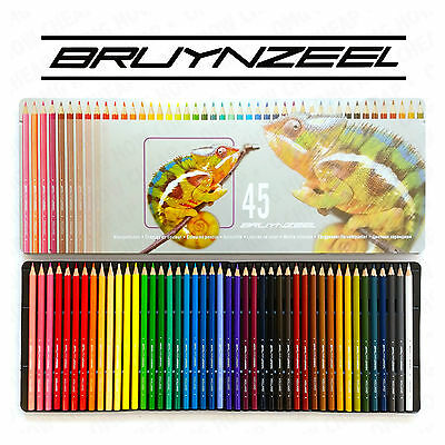 "45 x Adult Colouring Pencils in Metal Case ""Chameleon"" - Ideal for Art Therapy"