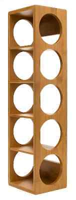 Solid Wine Rack Stackable Bottle Holder Wood Storage Bar Glass Wall Kitchen Home