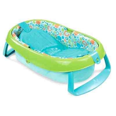 Baby Bath Tub Summer Infant Toddler Compactly folds Bathroom Storage Travel New