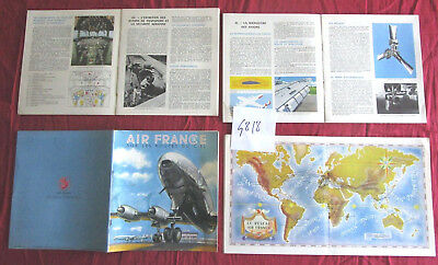 "N°4818 / AIR FRANCE catalogue couleur  ""Sur les routes du ciel"" mai 1954"