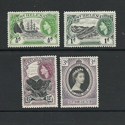 1953 Queen Elizabeth II SG152 and SG153 to SG155 Short Set Mint Hinged ST HELENA