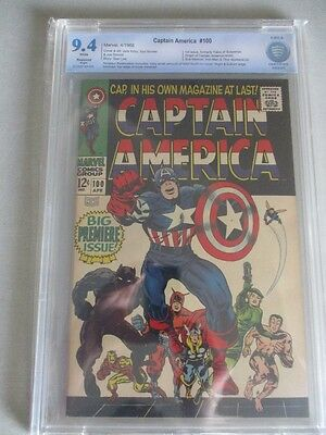 Captain America #100 1968 CBCS 9.4 (Restored) White Pages
