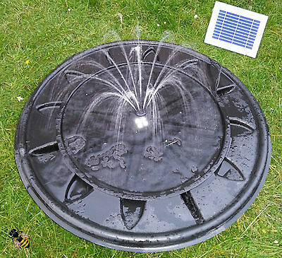 Pebble Pool Solar or Mains Fountain Garden Water Feature LED Lights New