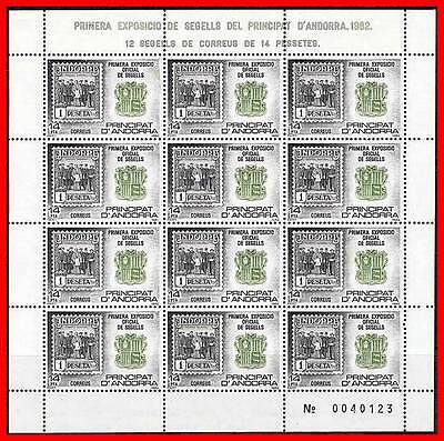 Andorra Spanish 1982 First Postage Stamps Expo M/s  Mi# 159 -50,000 Issued