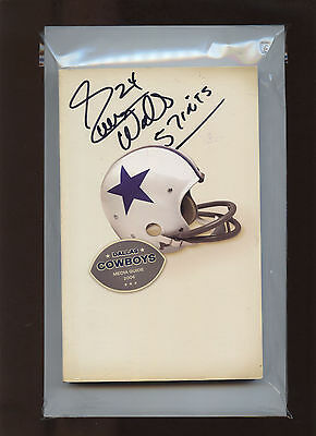 Dallas Cowboys Media Guide (2006) Signed by Everson Walls #24 (57 Interceptions)