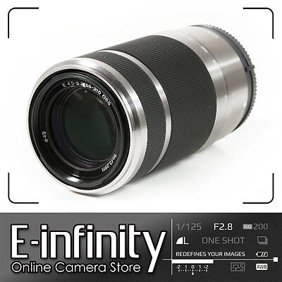 NEW Sony 55-210mm f/4.5-6.3 OSS Silver Lens SEL55210 NEX E-Mount in Retail Box
