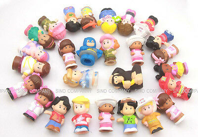 Lot 10 Randomly Fisher Price Little People 2'' Figures Dolls Baby Kids Toys