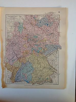 Stanford's Map Denmark & The Duches c1880 London Atlas Universal Geography Rare