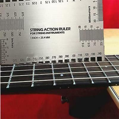String Action Gauge Ruler Guide Setup Measuring Luthier Tool For Guitar Bass New