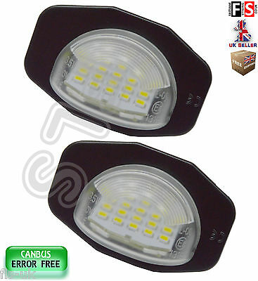 2 X Toyota Number Plate Lights Led White 18Smd Canbus Error Free