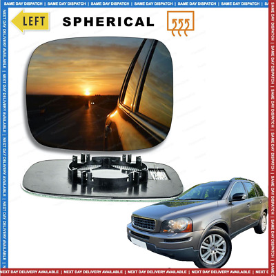 Left Passenger side Wide Angle Wing door mirror glass for Volvo XC90 2001-2006