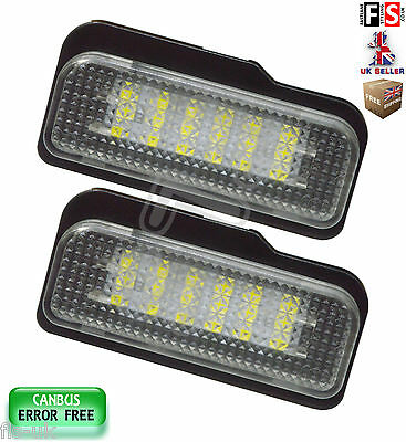 Mercedes Number Plate Lights W211 W219 R171 Led White 18Smd Canbus Error Free