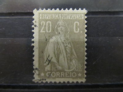 A2P1 PORTUGAL 1912-31 20c GRAY USED