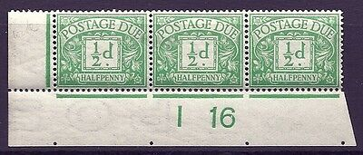 D1 ½d Royal Cypher Postage due Control I 16 imperf UNMOUNTED MINT/MNH