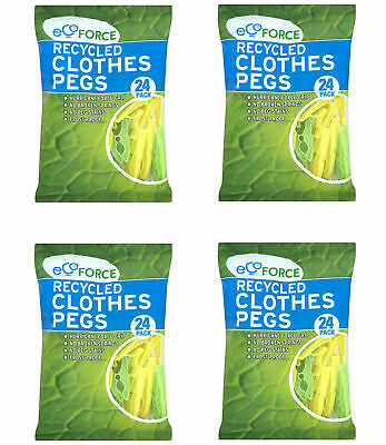 Recycled Clothes Pegs Frost proof Dishwasher safe No Spring 4 Packs (96 piece)