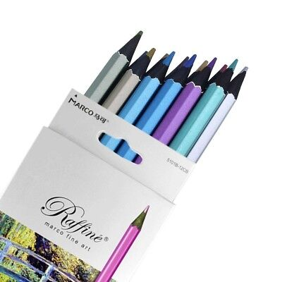 12pcs Metallic Colored Drawing Painting Sketching Pencils 12 Colors Office gift