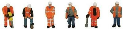 GRAHAM FARISH SCENECRAFT 379-309 1:148 N SCALE Trackside Workers x 6