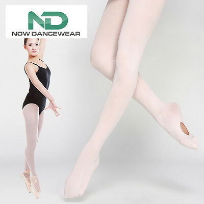 Convertible Transition Pink Dance Tights for Ballet