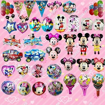 USA Minnie Mickey Mouse Foil Balloons A Decor Shower Birthday Party Supplies lot