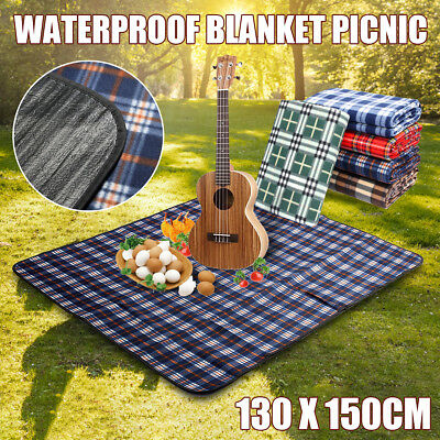 Large 130*150cm Folding Outdoor Camping Beach Waterproof Mat Picnic Blanket Rug