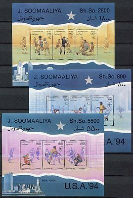 s7027) SOMALIA 1994 MNH** WC Football'94 - CM Calcio S/S x3