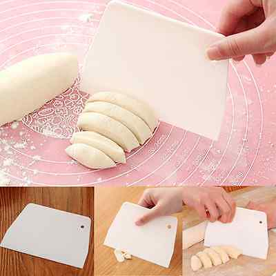 White Fondant Sugarcraft Scrapers Cut Tool Cake Icing Smoother Mould Decoration