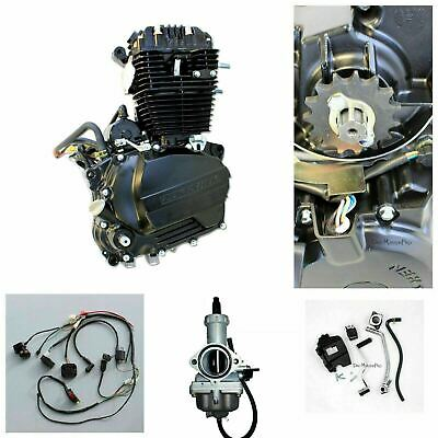 OHC 250cc Engine Complete w' Wiring Harness Carby Carburetor MX Enduro Dirtbike