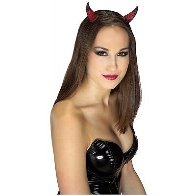 Devil Horns Adult Teen Red with Black Tips Halloween Costume Accessory