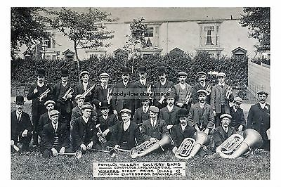 rp16871 - Powell's Tillery Colliery Band , Swansea 1907 - photo 6x4