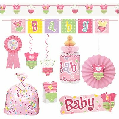PINK DOTTY BABY - Decorations, Banner, Gift Bags, Centrepiece, Girl, Pink