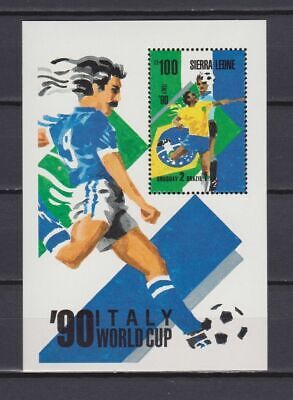 s6504) SIERRA LEONE 1990 MNH** WC Football'90-CM Calcio s/sx2