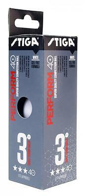 Table Tennis Balls: Stiga Polyball Optimum 40+ x 6  White Balls ITTF Approved