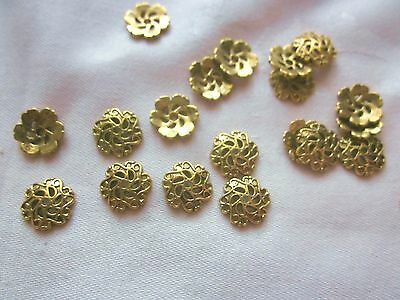 30 Gold Coloured 12mm Bead Caps #bc3277 Combine Postage-See Listing