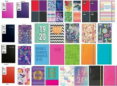 2018-2019 Mid-Year Hanging Home /& School Organiser Calendar with Pen 0390 Butterfly